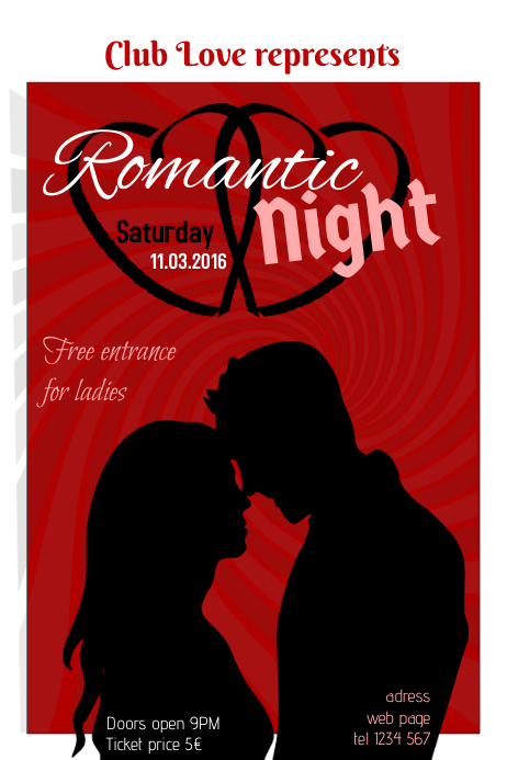 Romantic Valentines Day Event poster