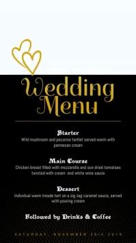 Romantic Wedding Menu Digital Display Video