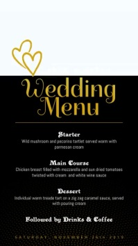 Romantic Wedding Menu Digital Display Video