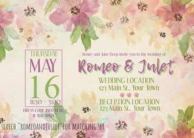 ROMEOANDJULIET Post Card Wedding Invitation