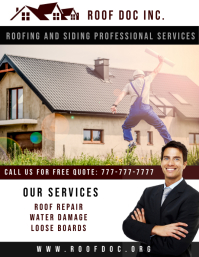 Roof Repair Flyer