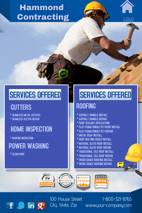 Roofing And Gutter Repair Template Postermywall