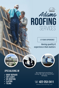 roofing business flyer template