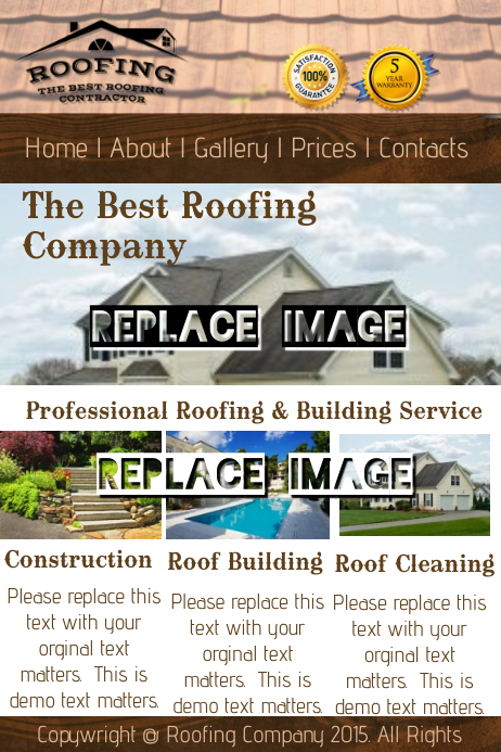 roofing company template postermywall