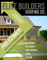 Roofing Construction Advertisement Flyer