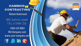 Roofing Contractor Business Card