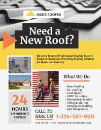 Roofing Contractor Flyer