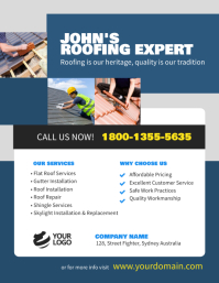 Roofing Contractor Flyer Poster