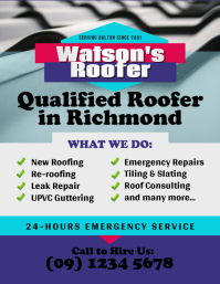 Roofing Contractor Flyer