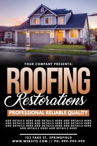 Roofing Restoration Poster