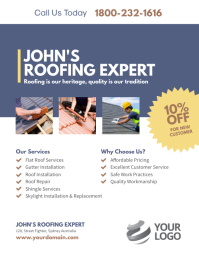 Roofing Service Expert Flyer Poster