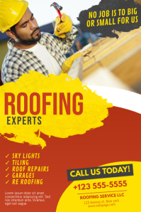 Roofing Service Flyer template