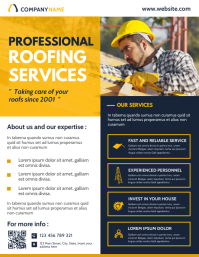 roofing services flyer advertisement template