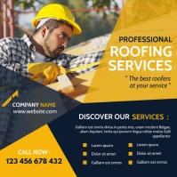 roofing services instagram post banner advert template