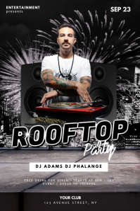 Rooftop Party Flyer Design Template