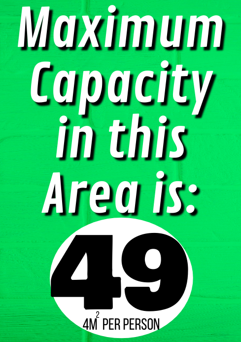 Room Capacity A1 template