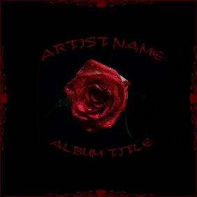 ROSE ALBUM ART Albumcover template