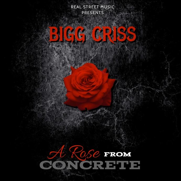 ROSE ALBUM MIXTAPE COVER TEMPLATE Instagram-bericht