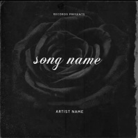 Rose Black Mixtape cover art design template