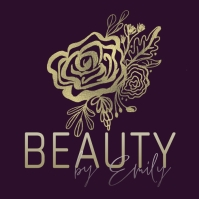 Rose Eyelashes Beuaty Foil Logo Template Logotyp