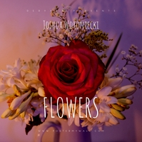 Rose Flowers Web CD Cover template