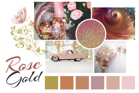 Rose Gold Moodboard Poster template
