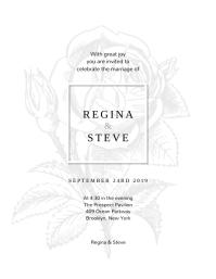 Rose Wedding Invitation Design Template