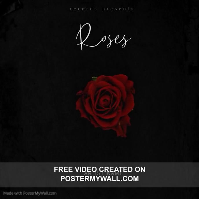 Roses albu Mixtape/Album Cover Video Template Albumhoes