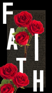 Roses Faith Instagram Quote Story template