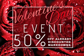 Roses Flowers Gifts Florist Retail Valentine V-Day Promo