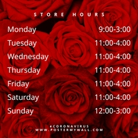 Roses Store Hours of Work Instagram Post template