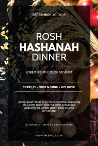Rosh Hashanah Communty Dinner Flyer