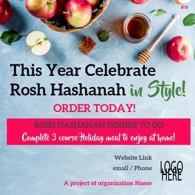 Rosh Hashanah dinner to go Publicação no Instagram template