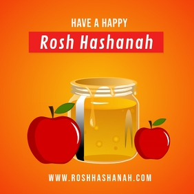 Rosh Hashanah Flyer Design Template Instagram Post