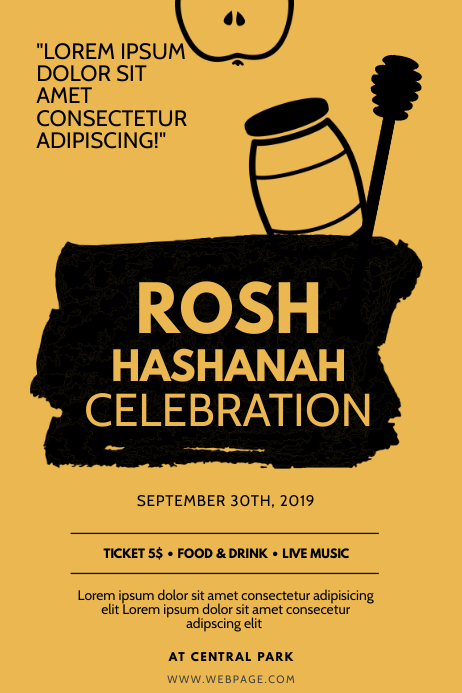 Rosh Hashanah Flyer Design Template
