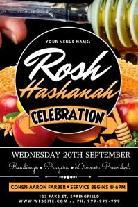 Rosh Hashanah Poster template