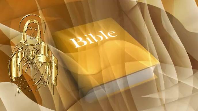 Rotating Bible Gold Zoom Background Pantalla Digital (16:9) template
