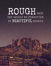 Rough Days Inspirational Quote Poster Flyer (US Letter) template