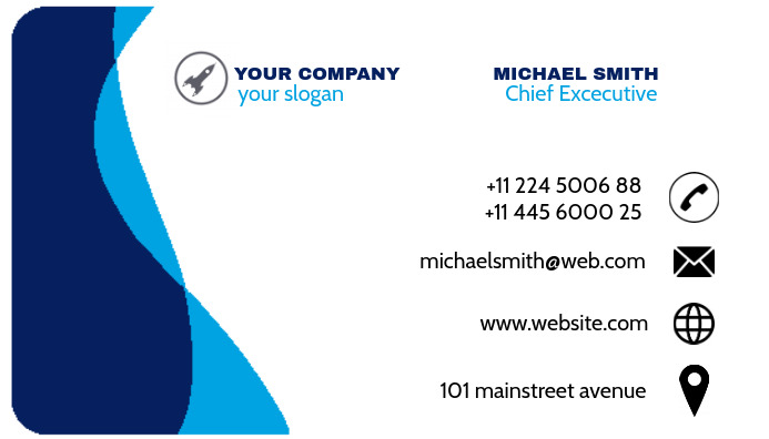 ROUND EDGES BUSINESS CARD TEMPLATE