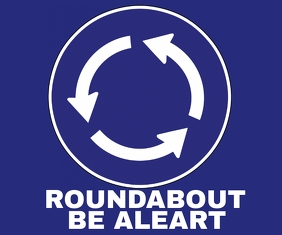 ROUNDABOUT BOARD SIGN TEMPLATE 巨型广告