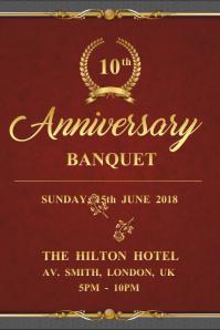 Royal Anniversary Banquet Invitation Poster Template