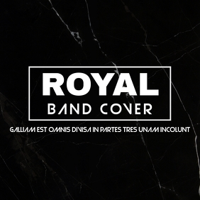 Royal band cover design template