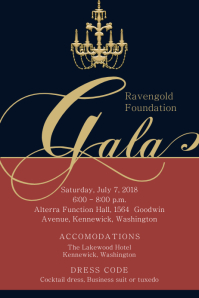 Royal Banquet Invitation Flyer Template