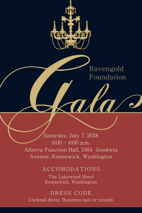 royal banquet invitation flyer template