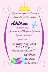 Royal Birthday Girl Party Invite