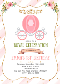 Royal birthday party invitation