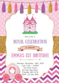 Royal birthday party invitation