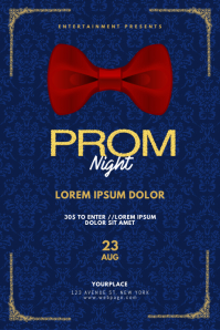 Royal blue Prom Gala Night Flyer Template Affiche