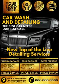 Royal Car Wash Service Template A4