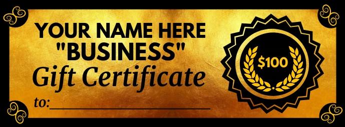 Royal Gift Certificate Template Foto Sampul Facebook